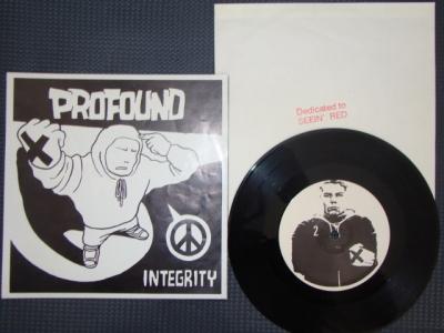 profound integrity vinyl 7 inch aniti schelski