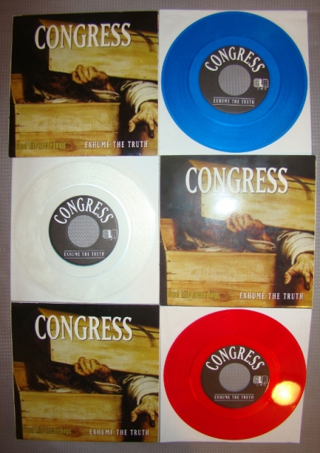 congress deformity 7inch vinyl red blue clear collection good life recordings