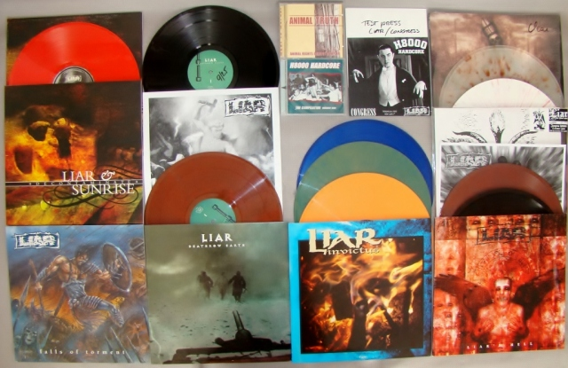 liar h8000 invictus vinyl collection lp 7 inch cd falls of torment deathrow earth lp