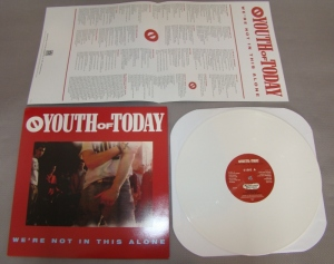 youth of today we're not in this alone lp vinyl white revelation records