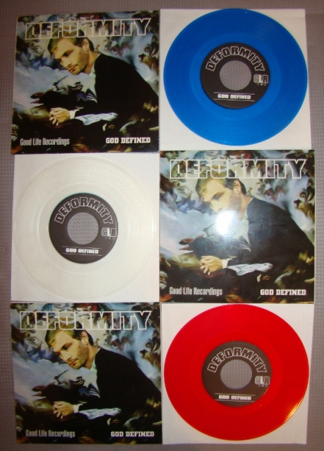 deformity congress 7 inch vinyl collection red blue clear good life recordings