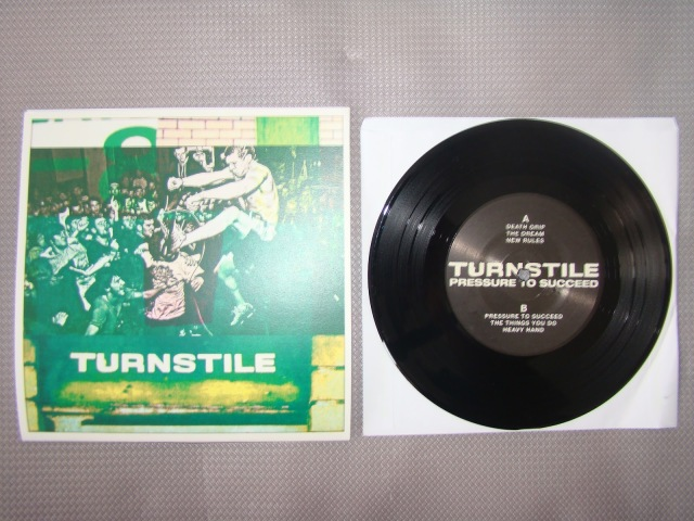 turnstile pressure to succeed black vinyl second press 7 inch reaper records