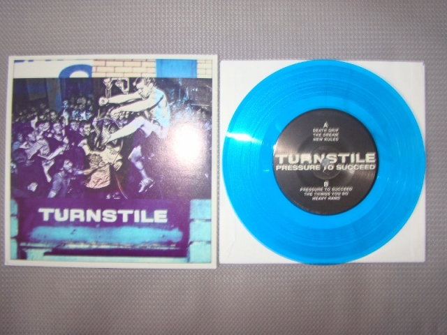 turnstile pressure to succeed blue vinyl first press 7 inch reaper records