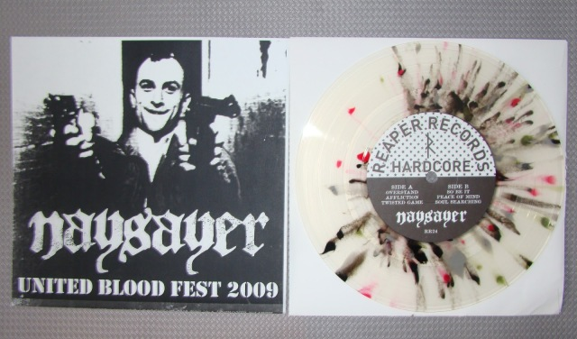 naysayer no remorse united blood fest 2009 vinyl 7 inch limited cover