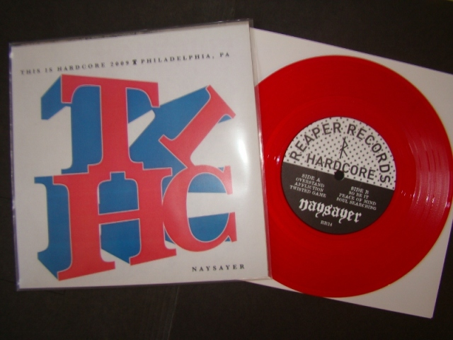 naysayer no remorse this is hardcore limited cover reaper records vinyl 7 inch