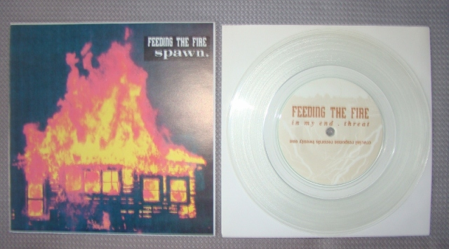 spawn feeding the fire clear vinyl 7 inch