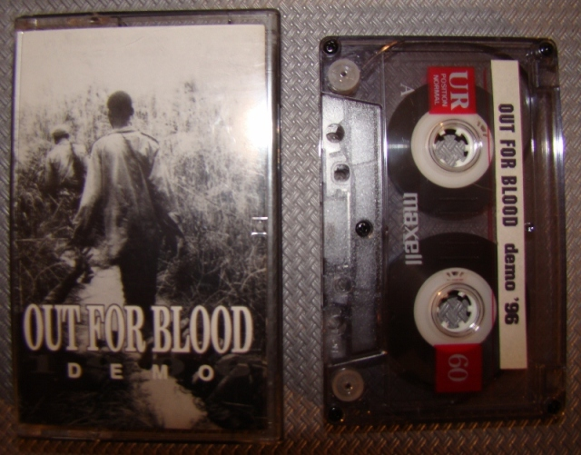 out for blood demo 1996 cassette tape brussels hardcore