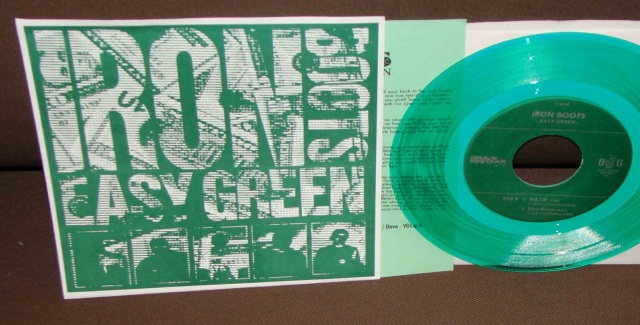 iron boots easy green green vinyl 7 inch record version brain grenade grave mistake record