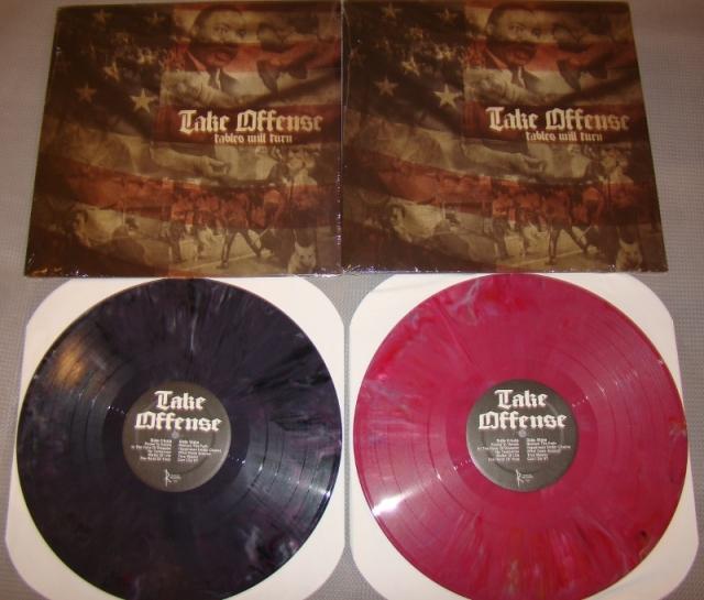 take offense tables will turn purple vinyl lp reaper records