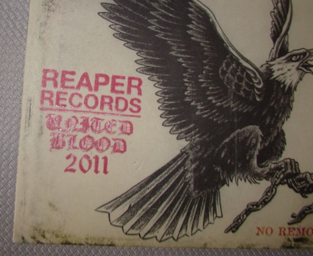 naysayer no remorse united blood stamp reaper records vinyl 7 inch