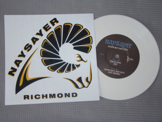 naysayer down but not out dbno reaper records vinyl 7 inch vcu cover