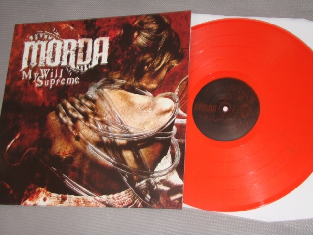 morda my will supreme lp red orange vinyl color reality records