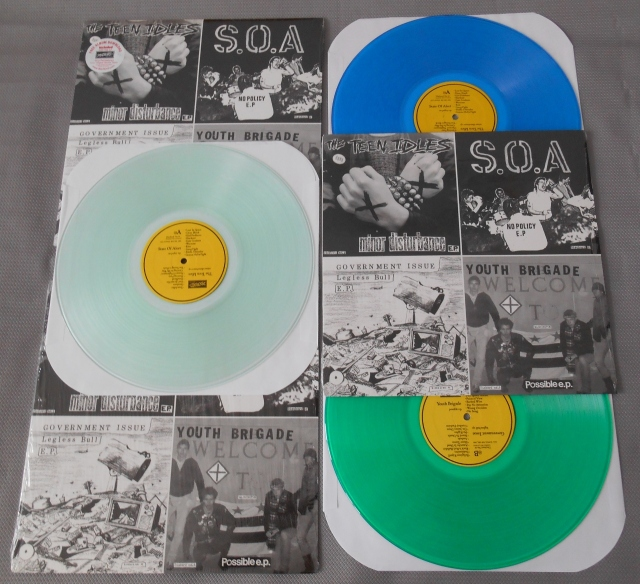 varios artists the year in seveninches four old seveninches on a twelve inch vinyl lp color dischord records