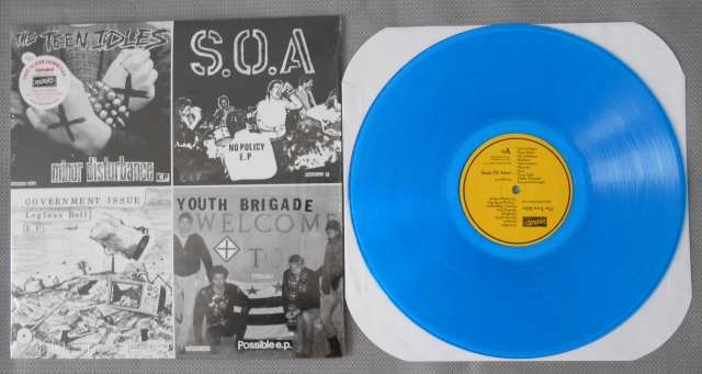 various the year in seveninches four old seveninches on a twelve inch lp vinyl dischord blue