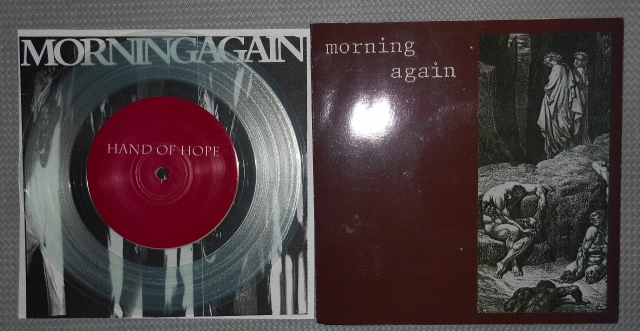 morning again hand of hope vinyl 7 inch clear intention record