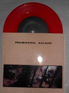 morning again shoulder split vinyl 7 inch red