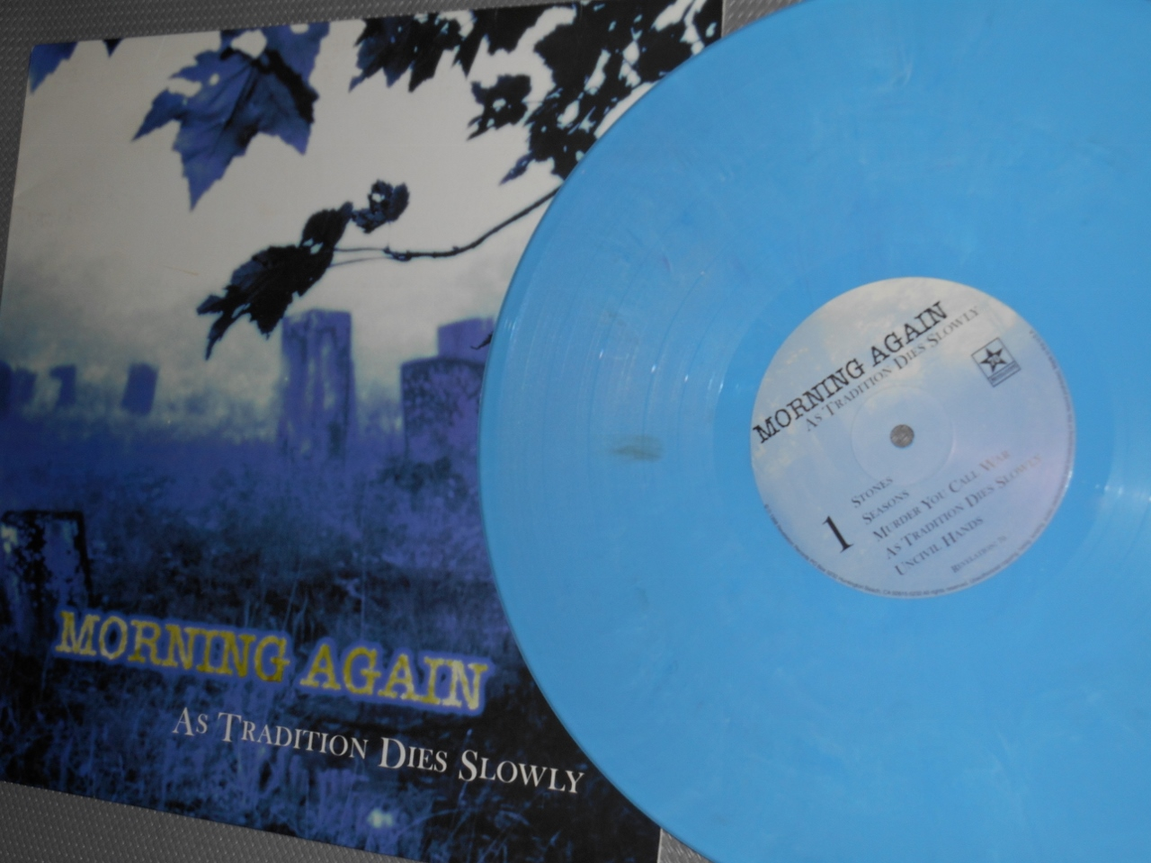 morning again as tradition dies slowly blue vinyl lp revelation record