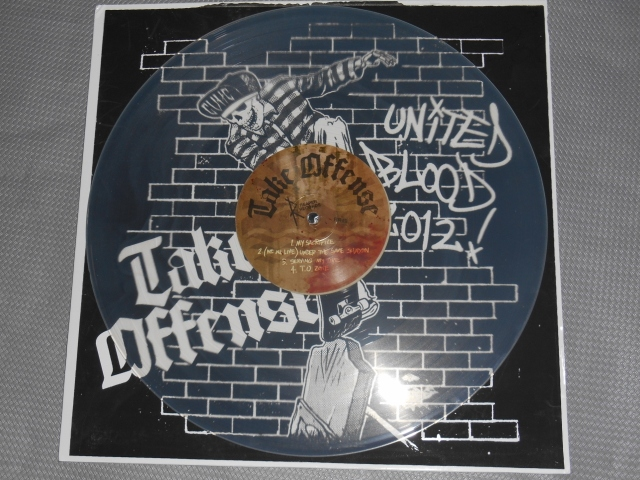 take offense under the same shadow lp united blood limited screened cover clear vinyl reaper record