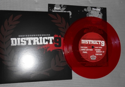 district 9 southbronxmemoired red vinyl 7 inch dignified bastard nyhc