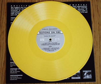 nations on fire strike the match LP yellow vinyl