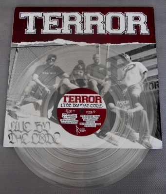 terror live by the code clear vinyl lp reaper record