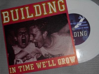 building in time we will grow 7 inch white vinyl sober mind record