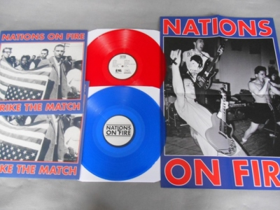 nations on fire strike the match lp red blue vinyl kidnap music good life record