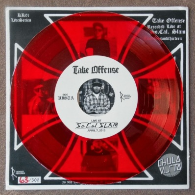 take offense live at socal slam vinyl inch reaper records