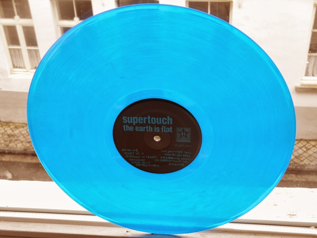 supertouch the earth is flat lp blue gatefold cover revelation records