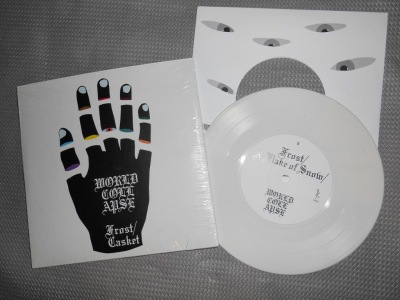 world collapse frost casket 7 inch white vinyl reaper records