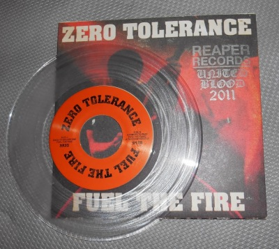 zero tolerance 7 inch clear vinyl limited united blood stamp records reaper
