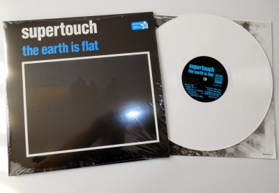 supertouch the earth is flat lp white gatefold revelation records