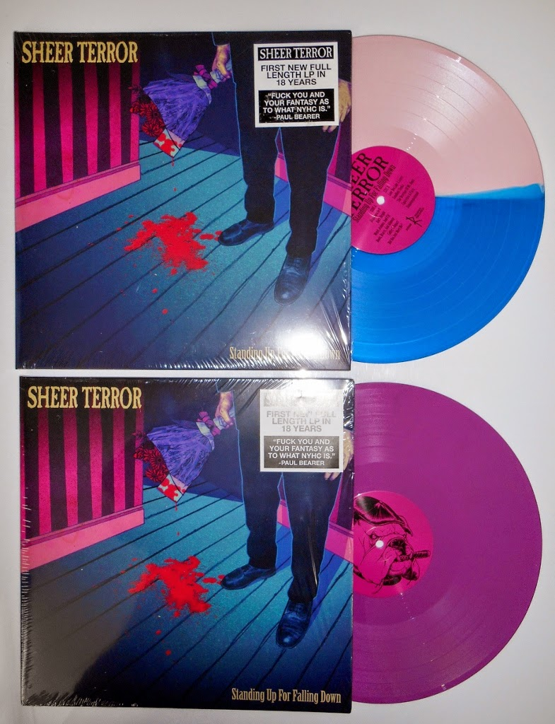 sheer terror standing up for falling down lp color vinyl nyhc