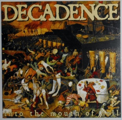 Decadence Into The mouth of hell cover photo spain vegan straight edge