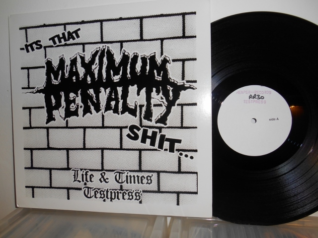 Maximum Penalty Life And Times Reaper Records vinyl