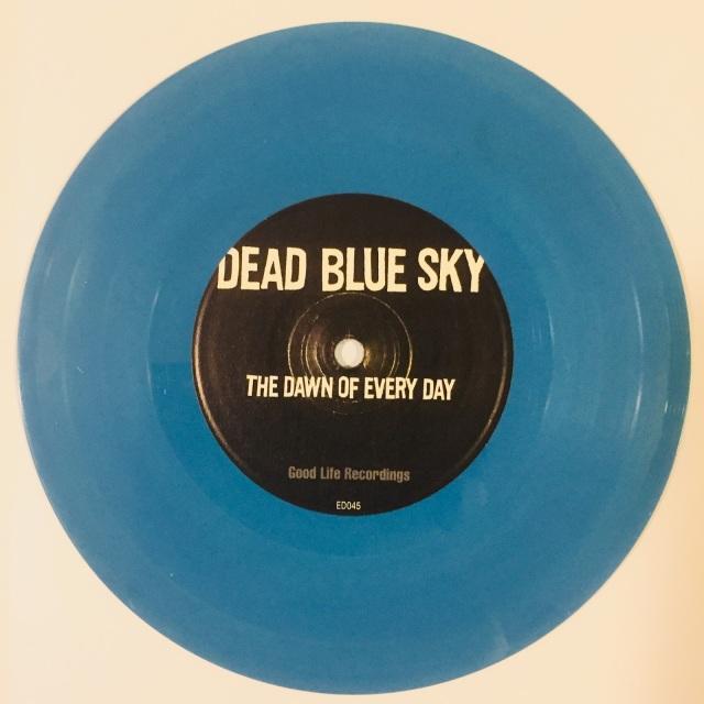 solid blue opaque blue vinyl
